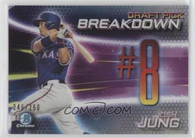2019 Bowman Draft - Chrome Bowman Scouts Draft Pick Breakdown - Refractor #BSB-JJ - Josh Jung /250