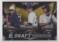 Alex Faedo, Casey Mize, Riley Greene #/50
