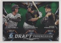 Quinn Priester, Cal Mitchell, Travis Swaggerty #/99