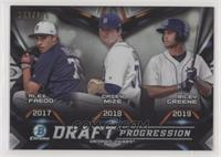 Alex Faedo, Casey Mize, Riley Greene #/250