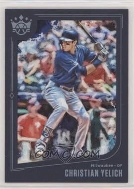 2019 Panini Diamond Kings - [Base] - Blue Framed #138 - Short Print - Christian Yelich