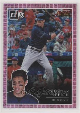 2019 Panini Donruss - Action All-Stars - Pink Firework #AA13 - Christian Yelich