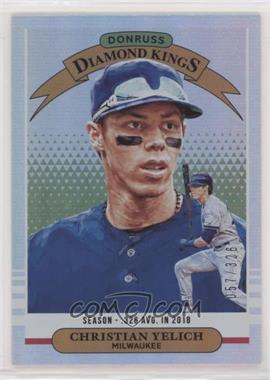 2019 Panini Donruss - [Base] - Season Stat Line #21 - Diamond Kings - Christian Yelich /326