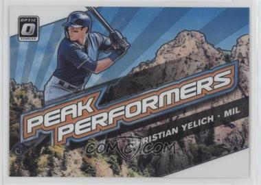 2019 Panini Donruss Optic - Peak Performers #PP-2 - Christian Yelich