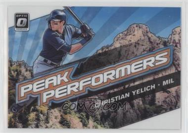 2019 Panini Donruss Optic - Peak Performers #PP-2 - Christian Yelich