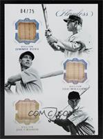 Jimmie Foxx, Joe Cronin, Ted Williams #/25