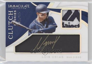 2019 Panini Immaculate Collection - Clutch Rookies - Platinum #CR-LU - Luis Urias /1
