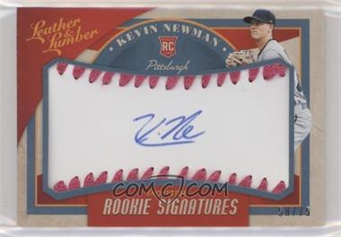 2019 Panini Leather & Lumber - [Base] - Rookie Signatures Baseball Pink [Autographed] #112 - Kevin Newman /75
