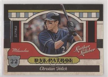 2019 Panini Leather & Lumber - Bat Patrol #BP-14 - Christian Yelich