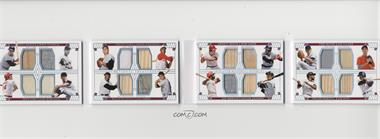 2019 Panini National Treasures - 16 Player Materials Booklets - Holo Silver #16-DEC - Mickey Mantle, Hoyt Wilhelm, Whitey Ford, Frank Robinson, Johnny Bench, Rod Carew, Tom Seaver, Jim Palmer, Pete Rose, Juan Marichal, Willie McCovey, Joe Torre, Joe Morgan, Reggie Jackson, Willie Stargell, Jim Rice /10