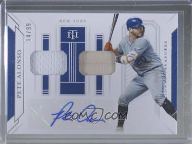 2019 Panini National Treasures - Game Gear Materials Signatures Duals #GGS-PA - Pete Alonso /99