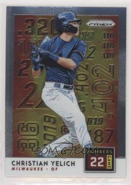 2019 Panini Prizm - Numbers Game #NG7 - Christian Yelich