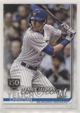 2019 Topps - [Base] - 150th Anniversary #239 - League Leaders - Christian Yelich