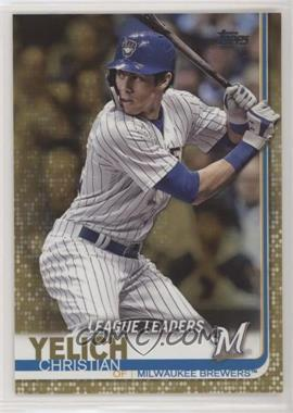 2019 Topps - [Base] - Gold #239 - League Leaders - Christian Yelich /2019
