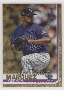 2019 Topps - [Base] - Gold #602 - German Marquez /2019