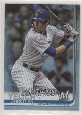2019 Topps - [Base] - Rainbow Foil #239 - League Leaders - Christian Yelich