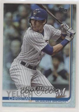 2019 Topps - [Base] - Rainbow Foil #239 - League Leaders - Christian Yelich