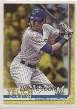 2019 Topps - [Base] - Walgreens Yellow #239 - League Leaders - Christian Yelich