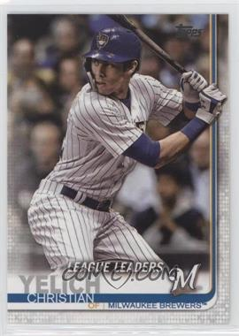 2019 Topps - [Base] #239 - League Leaders - Christian Yelich