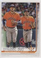 Checklist - Dynamic Duo (Astros' Infielders Hit the Dugout) [EX to NM]