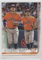 Checklist - Dynamic Duo (Astros' Infielders Hit the Dugout)