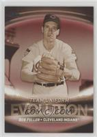 Team Logos/Uniforms - Bob Feller, Francisco Lindor #/10