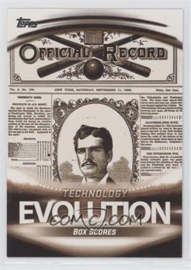 2019 Topps - Evolution Of: Technology #ET-4 - Box Scores, MLB At Bat App