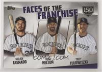 Troy Tulowitzki, Todd Helton, Nolan Arenado /150