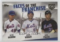 Jacob deGrom, David Wright, Mike Piazza #/150