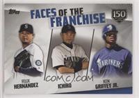 Ken Griffey Jr., Ichiro, Felix Hernandez /150