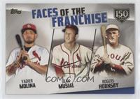 Yadier Molina, Stan Musial, Rogers Hornsby #/150