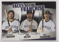 Troy Tulowitzki, Todd Helton, Nolan Arenado /299