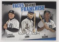 Ty Cobb, Al Kaline, Miguel Cabrera /299