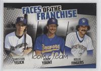 Christian Yelich, Robin Yount, Rollie Fingers #/299