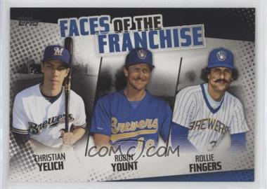 2019 Topps - Faces of the Franchise - Black #FOF-16 - Christian Yelich, Robin Yount, Rollie Fingers /299