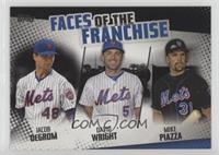 Jacob deGrom, David Wright, Mike Piazza #/299