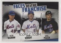 Mike Piazza, David Wright, Jacob deGrom /299