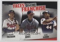 Freddie Freeman, Chipper Jones, Hank Aaron #/299