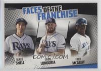 Blake Snell, Evan Longoria, Fred McGriff #/299