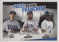 Fred McGriff, Blake Snell, Evan Longoria /299