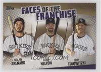 Troy Tulowitzki, Todd Helton, Nolan Arenado /50
