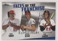 Mike Trout, Nolan Ryan, Rod Carew