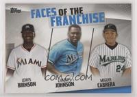 Lewis Brinson, Charles Johnson, Miguel Cabrera [EX to NM]