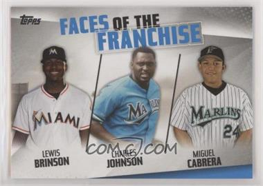 2019 Topps - Faces of the Franchise #FOF-15 - Lewis Brinson, Charles Johnson, Miguel Cabrera [EXtoNM]