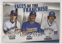 Christian Yelich, Robin Yount, Rollie Fingers