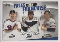 Joe Mauer, Rod Carew, Harmon Killebrew