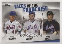 Jacob deGrom, David Wright, Mike Piazza