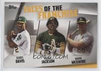 Khris Davis, Reggie Jackson, Mark McGwire [EX to NM]