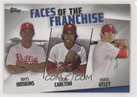 Rhys Hoskins, Steve Carlton, Chase Utley [EX to NM]