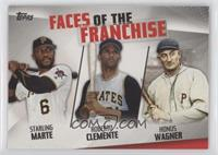 Starling Marte, Roberto Clemente, Honus Wagner [EX to NM]